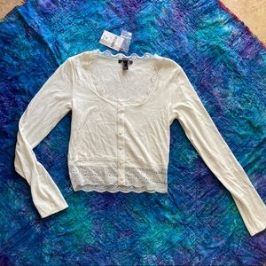 NWT Forever 21 lace cardigan